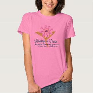 Women's Language in Bloom t-shirt