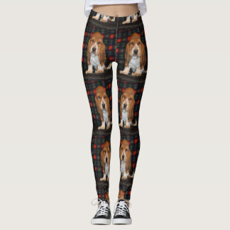 womens leggings Basset hound