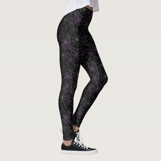 Women's Leggings-Halloween Spider Webs Leggings