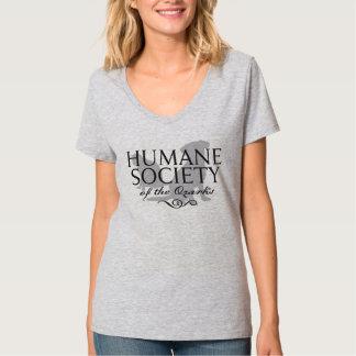 Women's Light Steel Hanes Nano V-Neck Short Sleeve T-Shirt