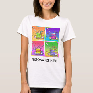 Women's Light Tees - Pop Art Cake