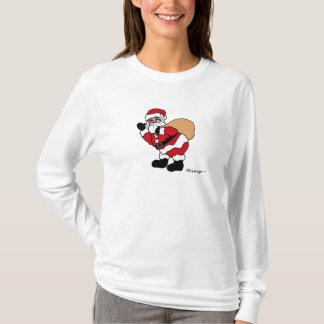 Womens' Long Sleeve Santa T-Shirt