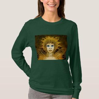 Women's Long Sleeve Shirt - Golden Art Déco Fairy