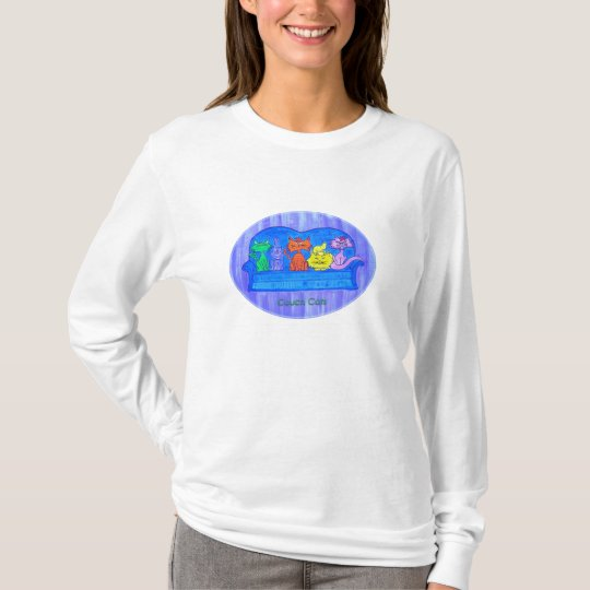 Women's long sleeve tee- Couch Cats T-Shirt