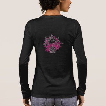 Beach Themed Women's Long Sleeve V-neck Wicked Waters Octopus Long Sleeve T-Shirt