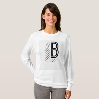 Women's Long Sleeve with Big B T-Shirt