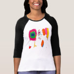 Women's Long Sleeved Multi Colored T-Shirt