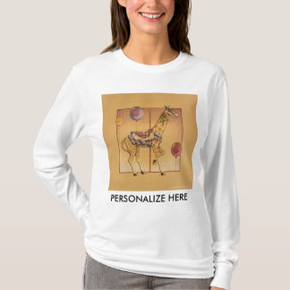 Women's Long Sleeved Tees - Carousel Giraffe