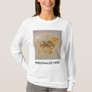 Women's Long Sleeved Tees - Carousel Lion SQ