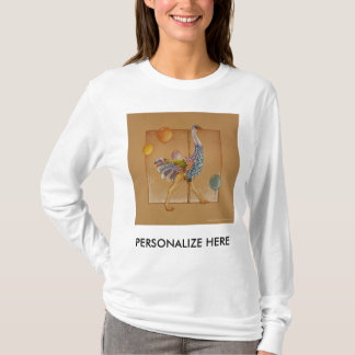Women's Long Sleeved Tees - Carousel Ostrich