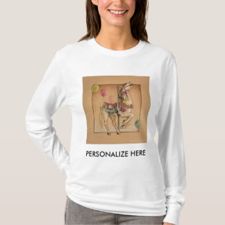 Women's Long Sleeved Tees - Happy Horse Carousel