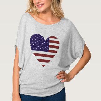 Women's Love America Bella+Canvas Flowy Circle Top