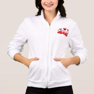 Women's Love California Fleece Zip Jogger Printed Jacket