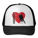 Women's Love Heart Hockey Cap Trucker Hat