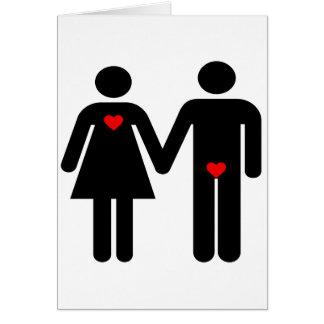 Womens love vs mens love joke humour card