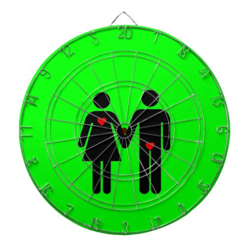 Womens love vs mens love joke humour dart boards