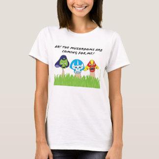 Womens- Luchador Mushrooms shirt