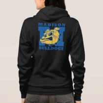 Women's Madison Bulldogs Zip Hoodie - deep gray