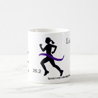 Women's Marathon Mug with Purple Ribbon