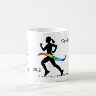 Women's Marathon with Puzzle Ribbon Coffee Mug