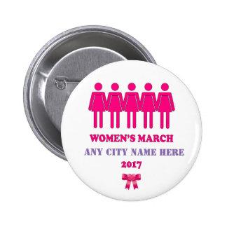 Women's  march 2017 button. button