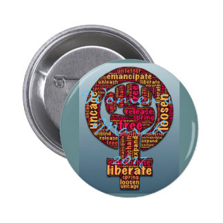 women's march 2017 raised fist pinback button