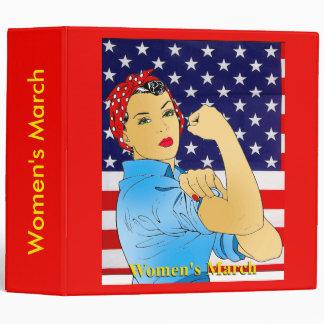 Women's March 3 Ring Binder