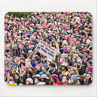 Women's March anti Trump Protest Mouse Pad
