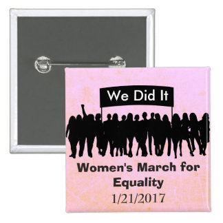 Women's March for Equality Protest Magnet Button