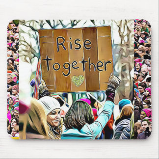 Womens March for Equality Sign Mouse Pad