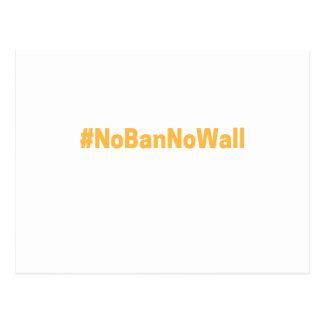 Women's March #NoBanNoWall Postcard