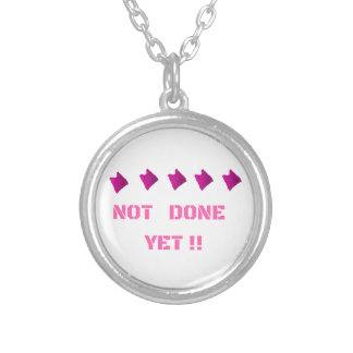 WOMEN'S MARCH NOT DONE YET SILVER PLATED NECKLACE