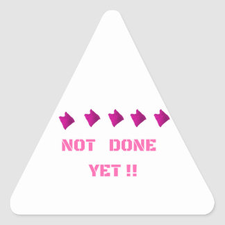WOMEN'S MARCH NOT DONE YET TRIANGLE STICKER