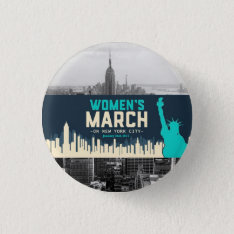 Women's March On Nyc Button at Zazzle