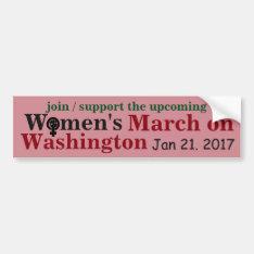 Women's March On Washington Bumper Sticker at Zazzle