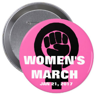WOMEN'S MARCH ON WASHINGTON, JAN 21, 2017 BUTTON