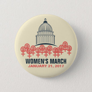 Women's March On Washington Solidarity Pinback Button