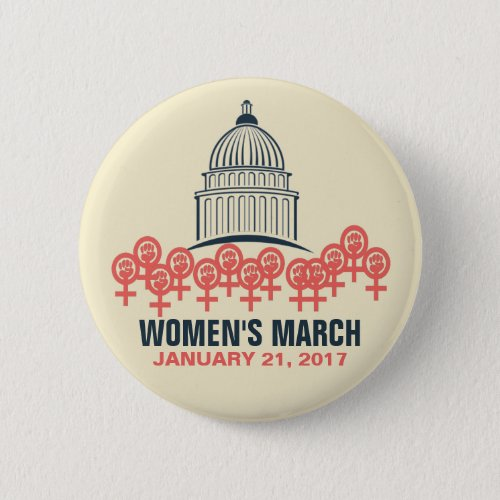 Womens March On Washington Solidarity Pinback Button