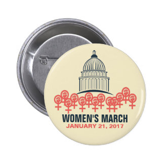 Women's March On Washington Solidarity Pinback Button