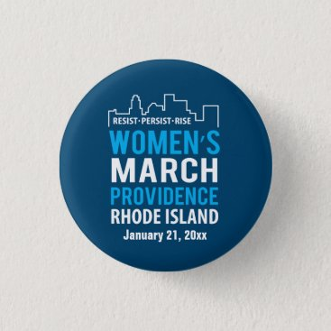 daisyprint Women's March Providence Rhode Island January Pinback Button