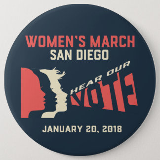 Women's March San Diego Colassal Button