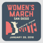 Women's March San Diego Colossal Stickers