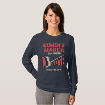 Women's March San Diego Long sleeve T-Shirt