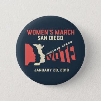 Women's March San Diego Official Button Regular Sz