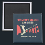 """Women&#39;s March San Diego Official March Magnet<br><div class=""""desc"""">We are a volunteer, women-led grassroots organization. All proceeds go toward the necessary funding for the annual March on January 20, 2018 and for operational purposes required to continue the important work set forth by the organizations unity principles. The mission of Women's March San Diego, Inc. is to harness the...</div>"""