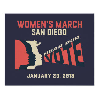 Women's March San Diego Official March Poster
