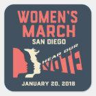 Women's March San Diego Stickers Regular