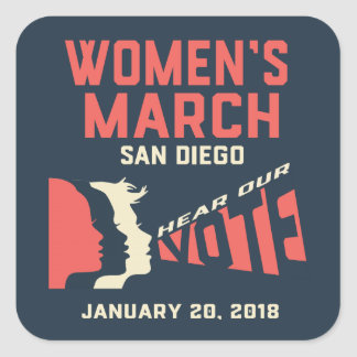 Women's March San Diego Stickers Regular