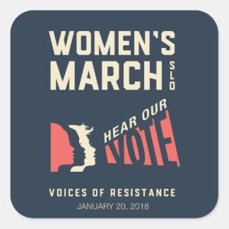 Women's March SLO - January 2018 Event Square Sticker