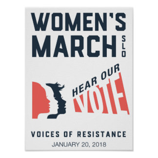 Women's March SLO January Event Poster